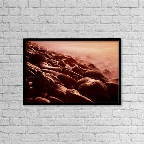 """Printscapes Wall Art: 18"""" x 12"""" Canvas Print With Black Frame - Nature by Richard Cummins"""