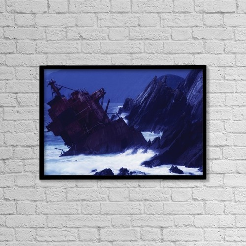 "Printscapes Wall Art: 18"" x 12"" Canvas Print With Black Frame - Nautical by Richard Cummins"