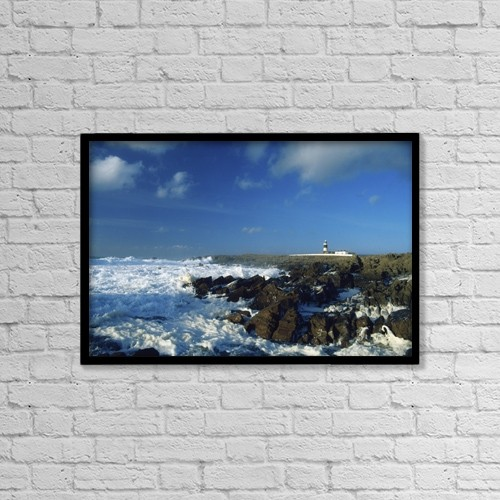 "Printscapes Wall Art: 18"" x 12"" Canvas Print With Black Frame - Tory Island, County Donegal, Ireland by Richard Cummins"