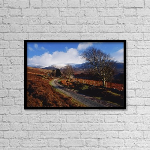 "Printscapes Wall Art: 18"" x 12"" Canvas Print With Black Frame - Roads by Richard Cummins"