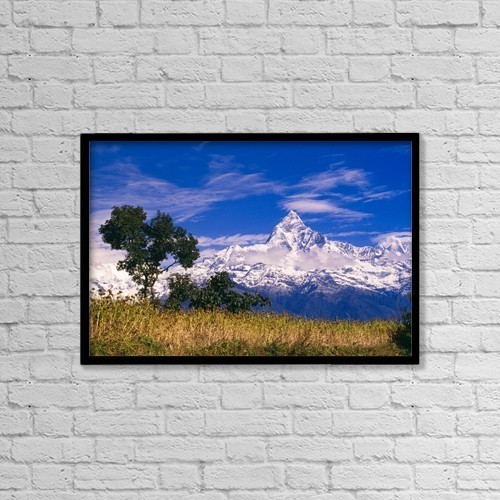"Printscapes Wall Art: 18"" x 12"" Canvas Print With Black Frame - Scenic by Bilderbuch"
