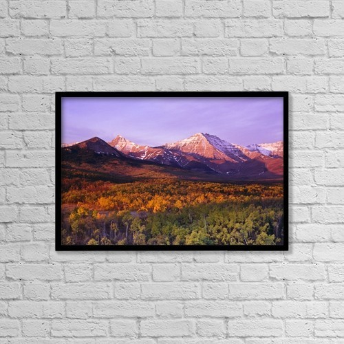 """Printscapes Wall Art: 18"""" x 12"""" Canvas Print With Black Frame - Waterton Lakes National Park, Alberta, Canada by Bilderbuch"""