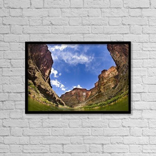 "Printscapes Wall Art: 18"" x 12"" Canvas Print With Black Frame - Grand Canyon, Arizona, Usa by Richard Wear"