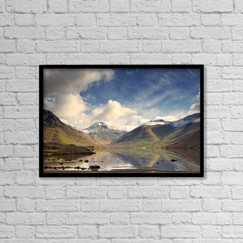 """Printscapes Wall Art: 18"""" x 12"""" Canvas Print With Black Frame - Scenic by John Short"""