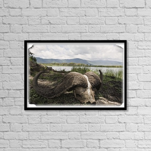 "Printscapes Wall Art: 18"" x 12"" Canvas Print With Black Frame - Nature by Carson Ganci"