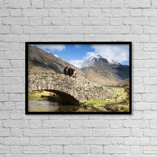 "Printscapes Wall Art: 18"" x 12"" Canvas Print With Black Frame - Bridge In Lake District Cumbria England by John Short"