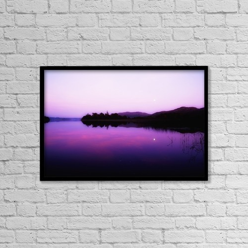"Printscapes Wall Art: 18"" x 12"" Canvas Print With Black Frame - Lough Gill, Co Sligo, Ireland by The Irish Image Collection"