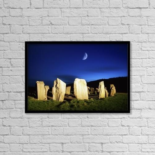 "Printscapes Wall Art: 18"" x 12"" Canvas Print With Black Frame - Drombeg, County Cork, Ireland by Richard Cummins"
