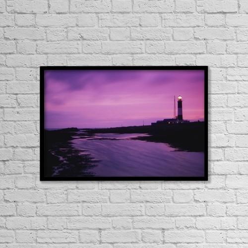 "Printscapes Wall Art: 18"" x 12"" Canvas Print With Black Frame - Nautical by Richard Cummins"
