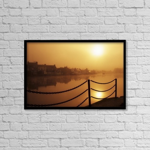 "Printscapes Wall Art: 18"" x 12"" Canvas Print With Black Frame - Athlone, County Westmeath, Ireland by Richard Cummins"