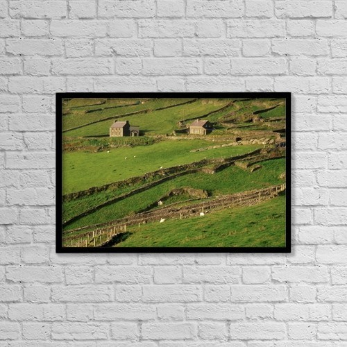 "Printscapes Wall Art: 18"" x 12"" Canvas Print With Black Frame - Agriculture by Richard Cummins"