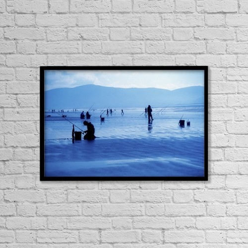 "Printscapes Wall Art: 18"" x 12"" Canvas Print With Black Frame - Sports and Recreation by Richard Cummins"