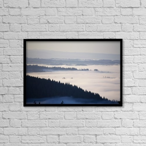 """Printscapes Wall Art: 18"""" x 12"""" Canvas Print With Black Frame - Scenic by Craig Tuttle"""