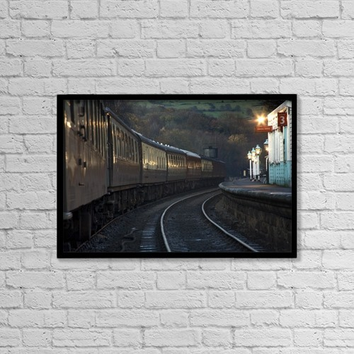 "Printscapes Wall Art: 18"" x 12"" Canvas Print With Black Frame - Transportation by John Short"