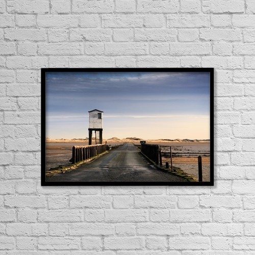 """Printscapes Wall Art: 18"""" x 12"""" Canvas Print With Black Frame - Roads by John Short"""