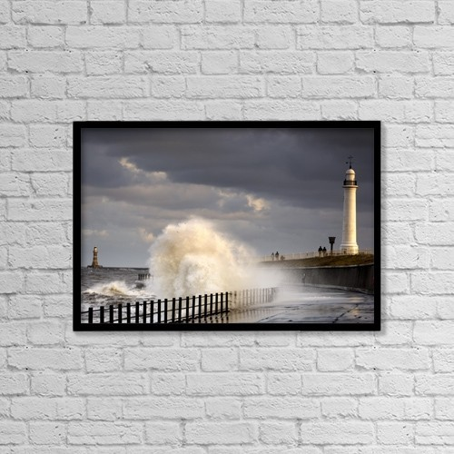 "Printscapes Wall Art: 18"" x 12"" Canvas Print With Black Frame - Weather by John Short"