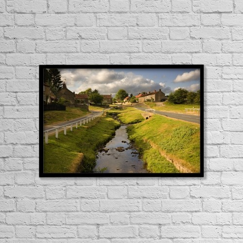 "Printscapes Wall Art: 18"" x 12"" Canvas Print With Black Frame - Hutton Le Hole, North Yorkshire, England by John Short"