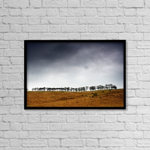 "Printscapes Wall Art: 18"" x 12"" Canvas Print With Black Frame - Nature by John Short"