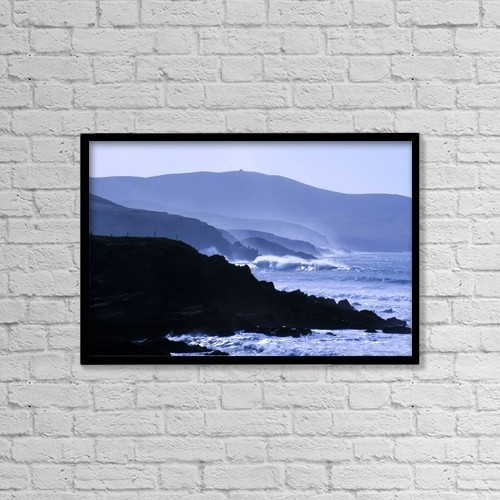 "Printscapes Wall Art: 18"" x 12"" Canvas Print With Black Frame - Scenic by Peter Zoeller"