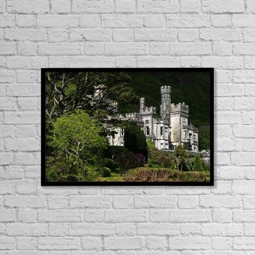 """Printscapes Wall Art: 18"""" x 12"""" Canvas Print With Black Frame - Architectural Exteriors by Peter Zoeller"""