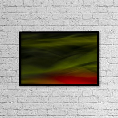 "Printscapes Wall Art: 18"" x 12"" Canvas Print With Black Frame - Abstract Close Up Of Tulips by Richard Wear"