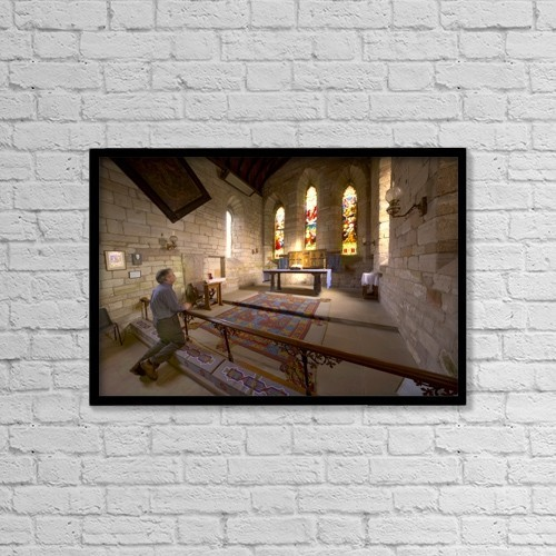 "Printscapes Wall Art: 18"" x 12"" Canvas Print With Black Frame - Christian Faith by John Short"