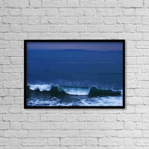 """Printscapes Wall Art: 18"""" x 12"""" Canvas Print With Black Frame - Burren Coast With Inisheer, Ireland by Peter Zoeller"""