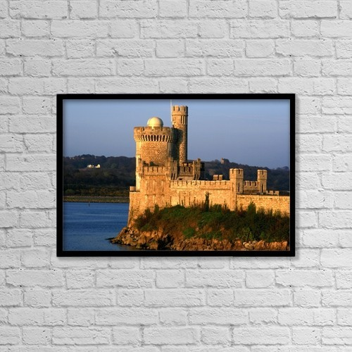 "Printscapes Wall Art: 18"" x 12"" Canvas Print With Black Frame - Blackrock Castle, County Cork, Ireland by Peter Zoeller"