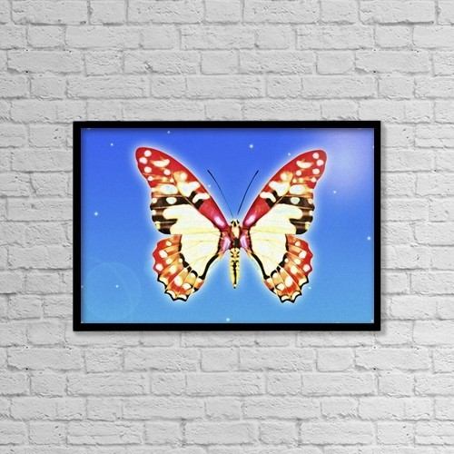 "Printscapes Wall Art: 18"" x 12"" Canvas Print With Black Frame - Butterfly by Chris and Kate Knorr"
