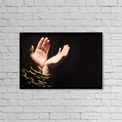 """Printscapes Wall Art: 18"""" x 12"""" Canvas Print With Black Frame - Worshipping With Chains by Chris and Kate Knorr"""