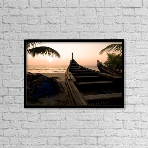 "Printscapes Wall Art: 18"" x 12"" Canvas Print With Black Frame - Nautical by Keith Levit"