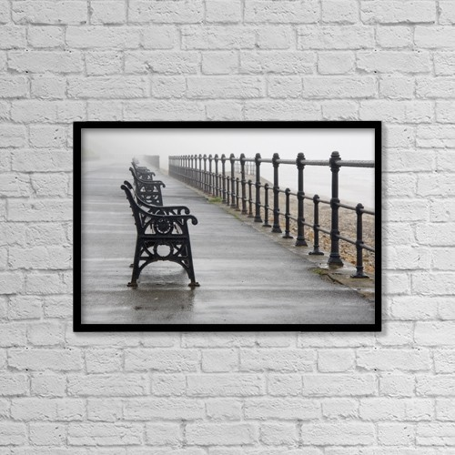 "Printscapes Wall Art: 18"" x 12"" Canvas Print With Black Frame - Redcar, North Yorkshire, England by John Short"