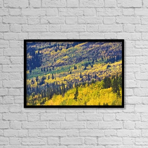 "Printscapes Wall Art: 18"" x 12"" Canvas Print With Black Frame - Yukon Territories, Canada by Richard Wear"