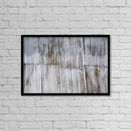 "Printscapes Wall Art: 18"" x 12"" Canvas Print With Black Frame - Tin Sheets by David Chapman"