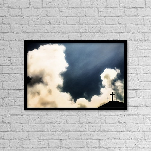 "Printscapes Wall Art: 18"" x 12"" Canvas Print With Black Frame - Christian Faith by Chris and Kate Knorr"