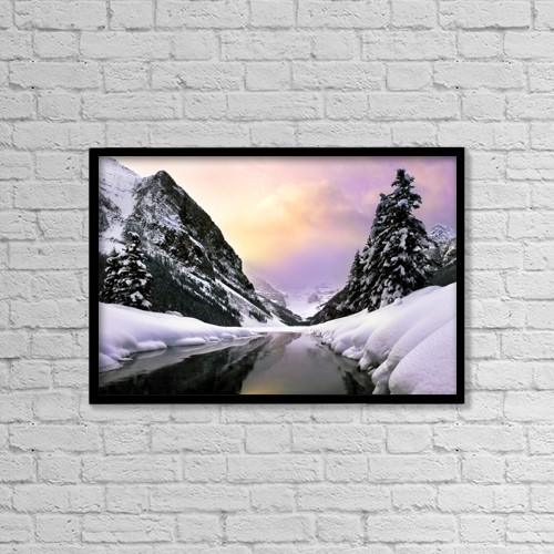 "Printscapes Wall Art: 18"" x 12"" Canvas Print With Black Frame - Travel by Chris and Kate Knorr"