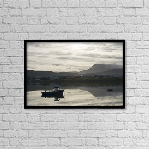 "Printscapes Wall Art: 18"" x 12"" Canvas Print With Black Frame - Dunfanaghy, County Donegal, Ireland by Peter McCabe"