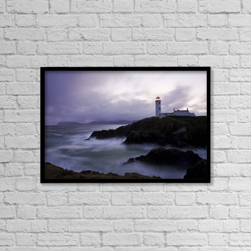 "Printscapes Wall Art: 18"" x 12"" Canvas Print With Black Frame - Fanad Head, County Donegal, Ireland by Peter McCabe"