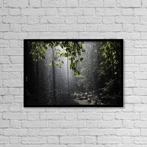 "Printscapes Wall Art: 18"" x 12"" Canvas Print With Black Frame - Rainforest, Bellingen, Australia by Paul Hobson"