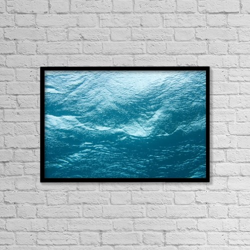 """Printscapes Wall Art: 18"""" x 12"""" Canvas Print With Black Frame - Underwater Image by Stuart Westmorland"""