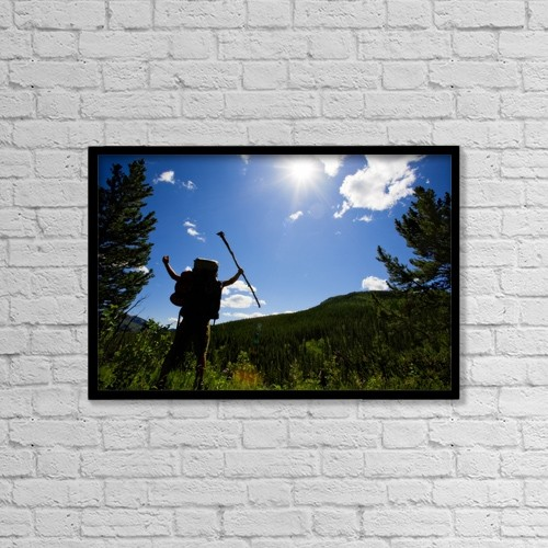 "Printscapes Wall Art: 18"" x 12"" Canvas Print With Black Frame - Kananaskis, Alberta, Canada by Curtis Round"