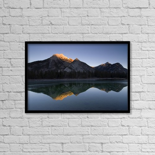 """Printscapes Wall Art: 18"""" x 12"""" Canvas Print With Black Frame - Scenic by Philippe Widling"""