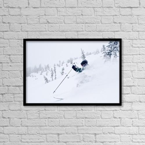"Printscapes Wall Art: 18"" x 12"" Canvas Print With Black Frame - Wallawa Mountains, Oregon, Usa by Dan Sherwood"