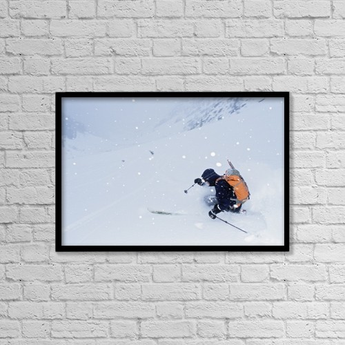 "Printscapes Wall Art: 18"" x 12"" Canvas Print With Black Frame - Balu Pass, British Columbia, Canada by Dan Sherwood"