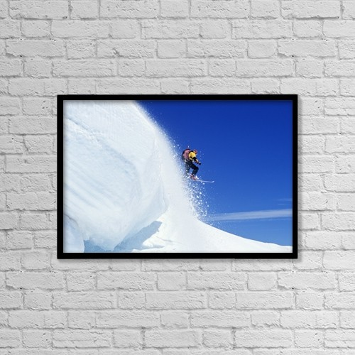 "Printscapes Wall Art: 18"" x 12"" Canvas Print With Black Frame - Mount Hood National Forest, Oregon, Usa by Dan Sherwood"