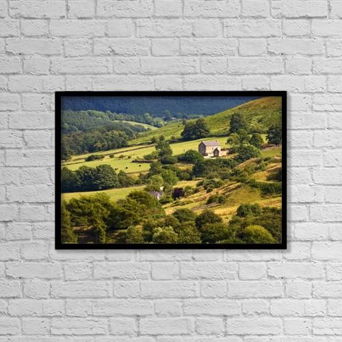 "Printscapes Wall Art: 18"" x 12"" Canvas Print With Black Frame - Rural Landscape; Yorkshire, England, Uk by John Short"