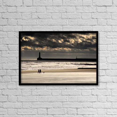 "Printscapes Wall Art: 18"" x 12"" Canvas Print With Black Frame - Travel by John Short"