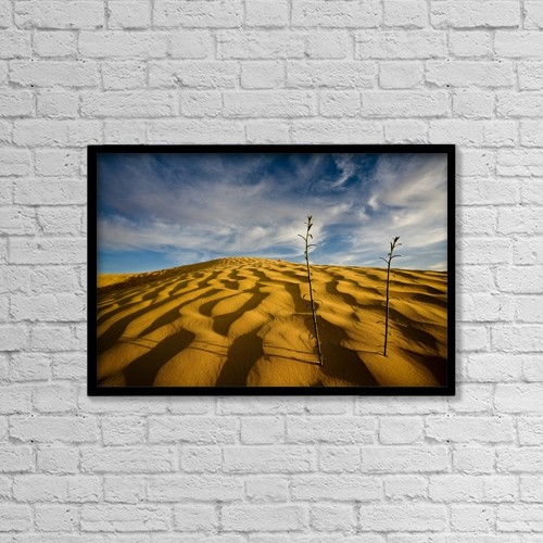 "Printscapes Wall Art: 18"" x 12"" Canvas Print With Black Frame - Sahara Desert, Tunisia, Africa by David DuChemin"