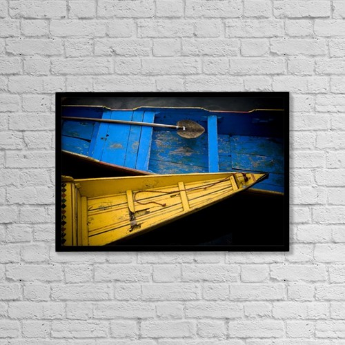 "Printscapes Wall Art: 18"" x 12"" Canvas Print With Black Frame - Transportation by David DuChemin"