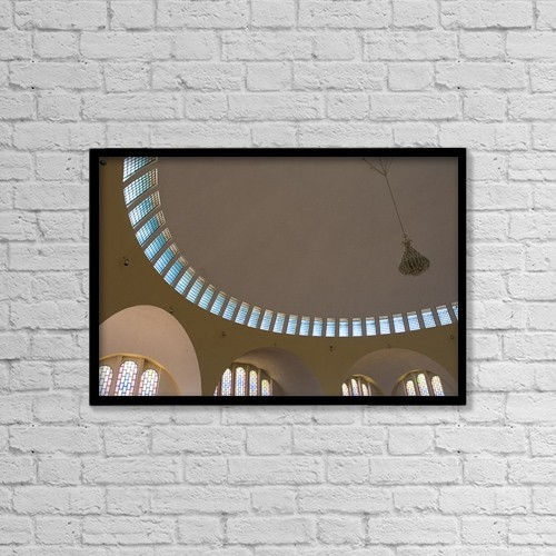 "Printscapes Wall Art: 18"" x 12"" Canvas Print With Black Frame - Ceiling With Windows by David DuChemin"